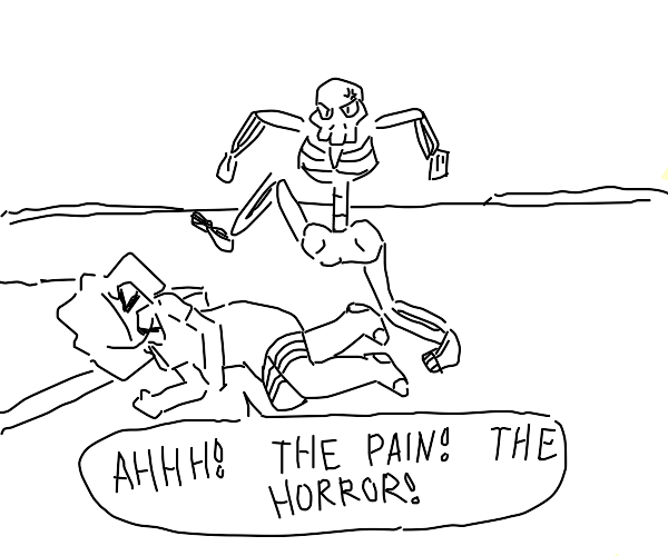 Curb stomping skeleton