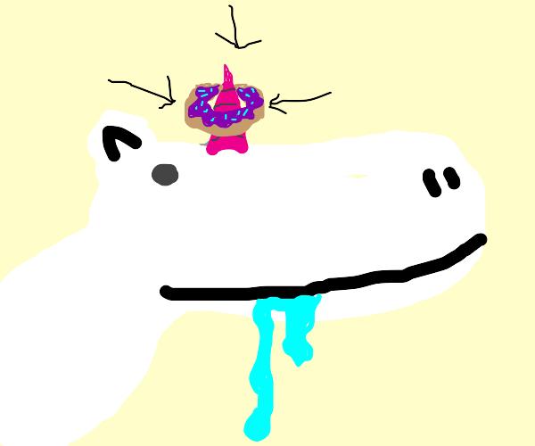 Donut on a Unicorn's horn
