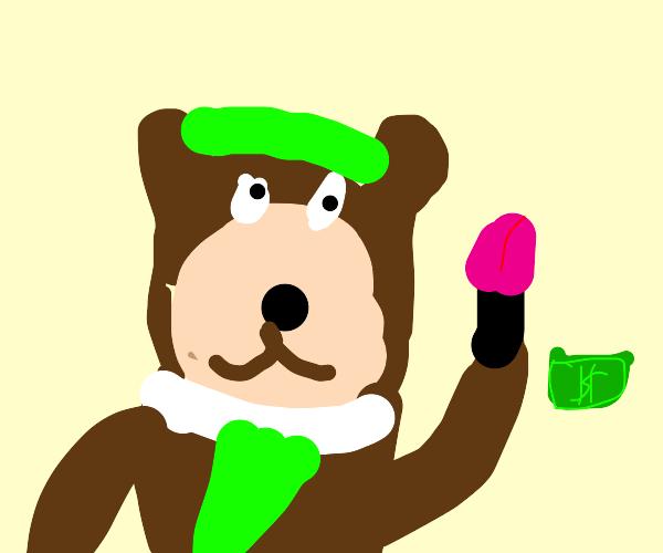 Yogi Bear auctioning Lipstick