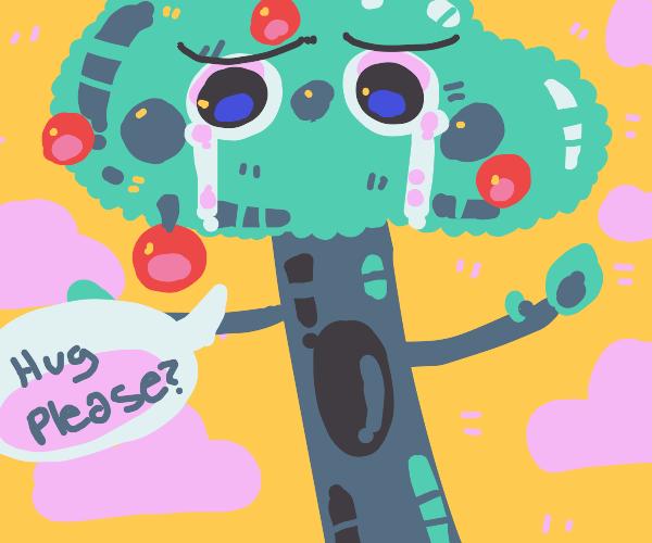 tree wants a hug