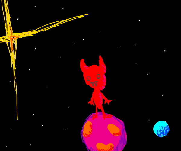 devil on planet in another galaxy
