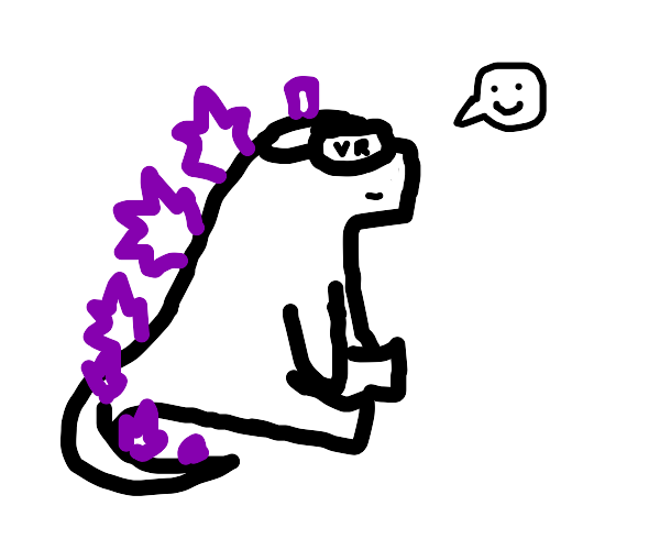 Godzilla plays VR
