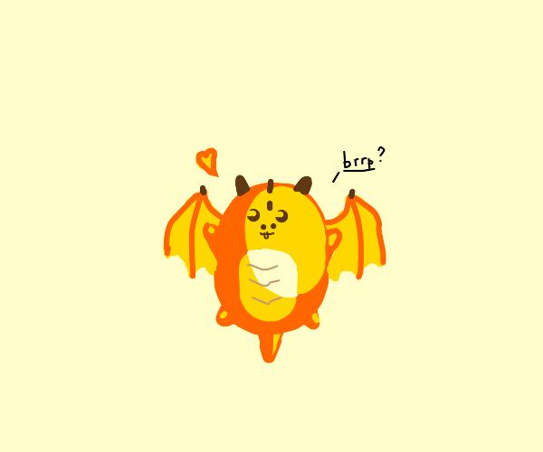 Orange and Yellow Dragon says Brrp