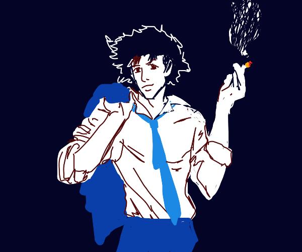 Spike (Cowboy Bebop) smoking