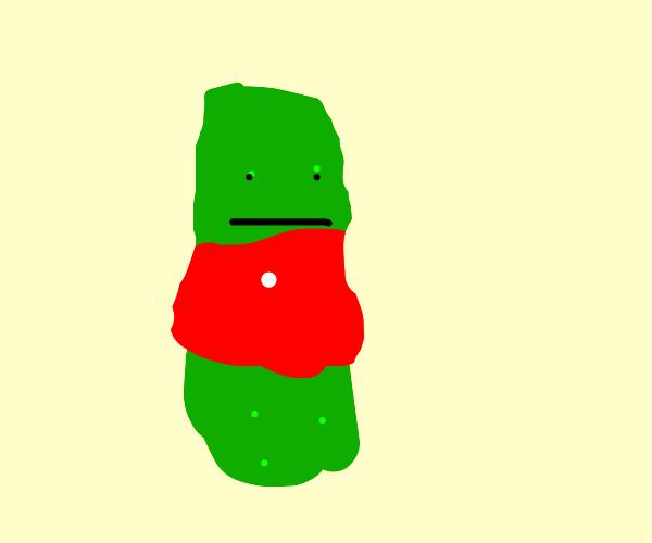 Pickle gets sunburn