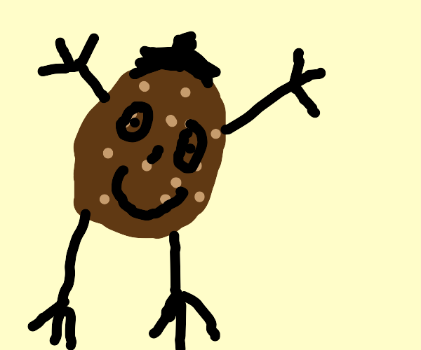 Potato with face and limbs