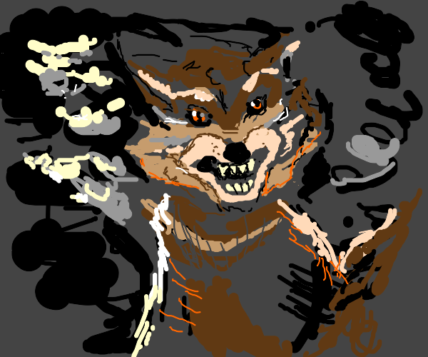 Saber-toothed Cat in a Hurricane