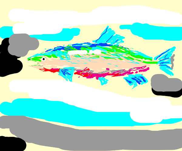 Cartoon Rainbow Trout