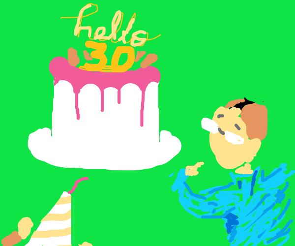 man's 30th birthday