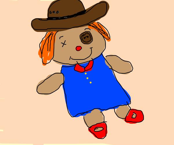 Doll wearing a Hat