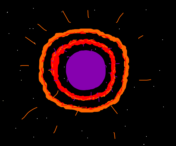 Dark star puffs of its outer layers