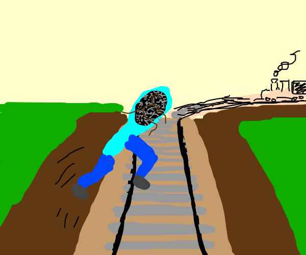 A Brush jumping over the Tracks