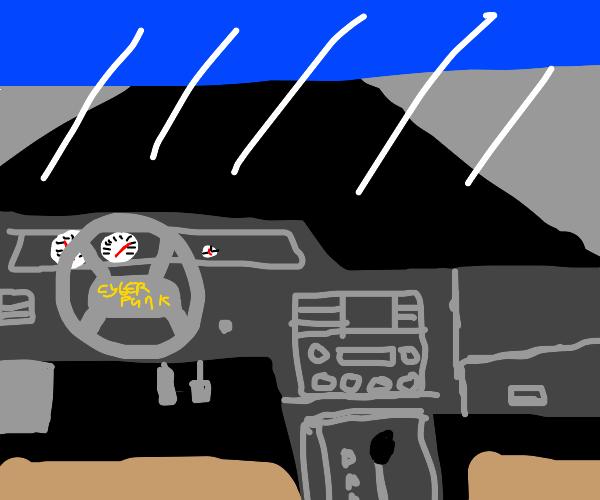cyberpunk dashboard
