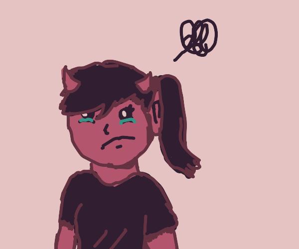 She-devil looks sad