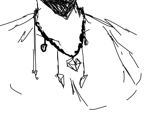 Giant Embedded Diamond Necklace