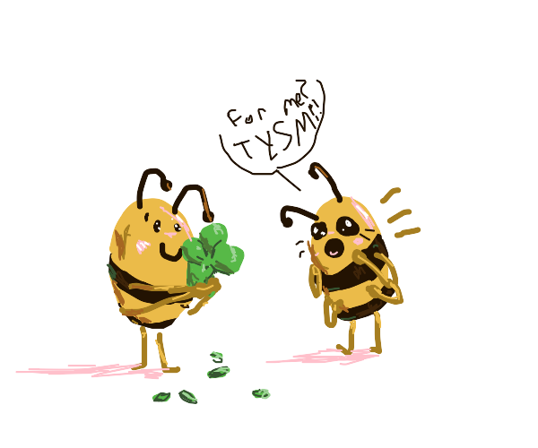A four-leaves clover for you, Bee!