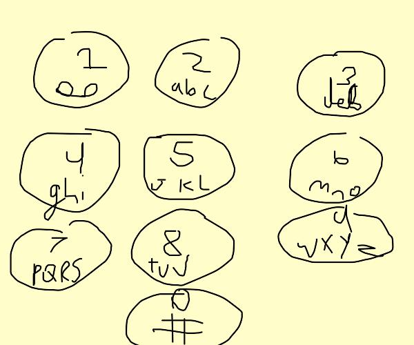 phone keypad letters