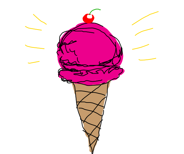 Icecream on a cone