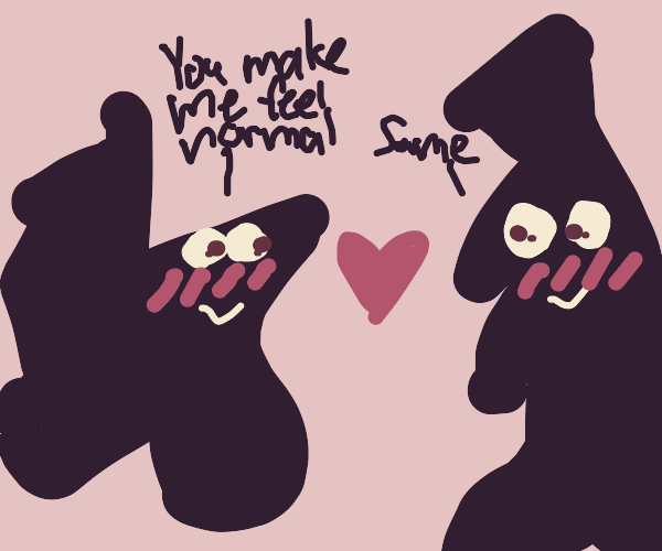 two weird shapes in love