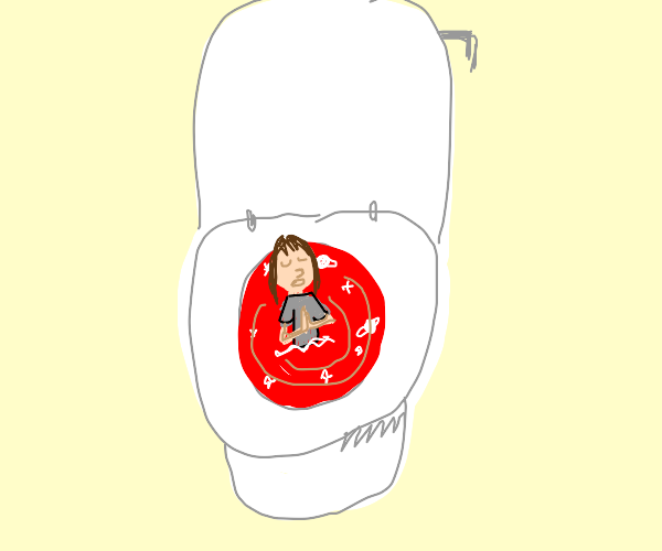 woman flushed into the red vortex,praying