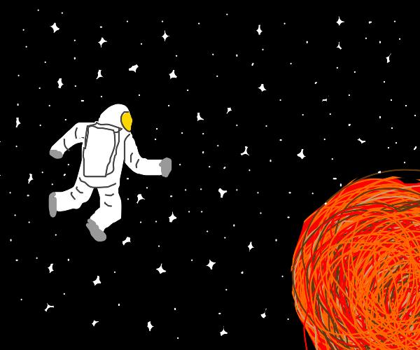 Astronaut goes to mars