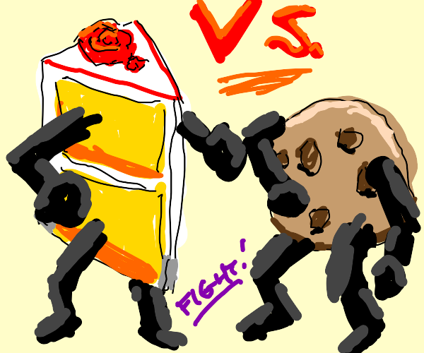 CAKE Vs. COOKIE... Who is Better??? (intense)