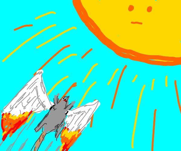 Mouse flying too close to the sun