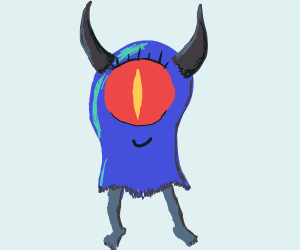 blue ghost now has 2 leg 2 horn and 1 big eye