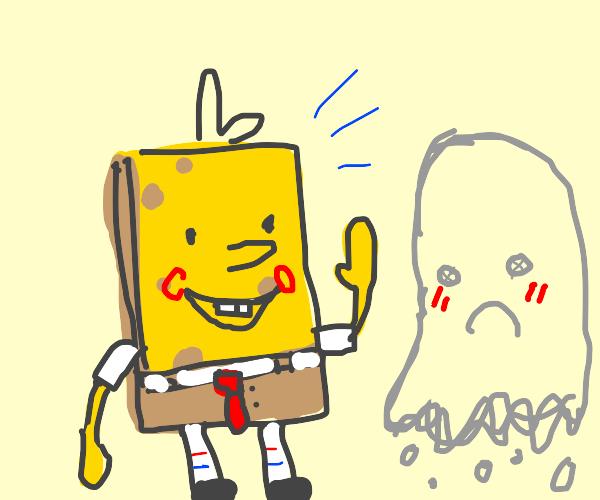 spongebob and a shy ghost