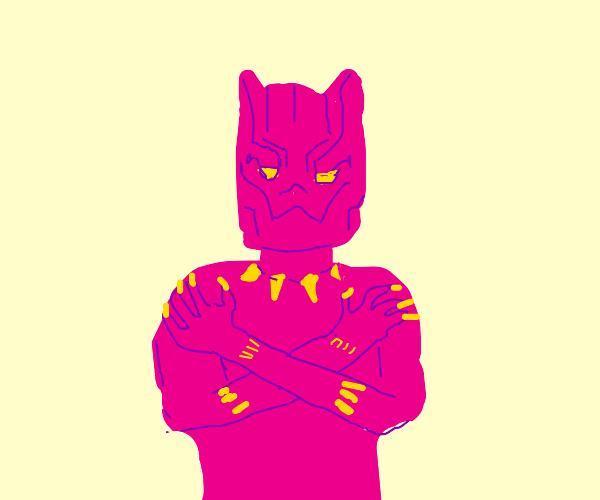 pink black panther man