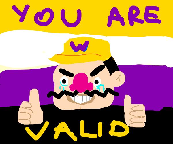 the non-binary pride flag is also Wario pride