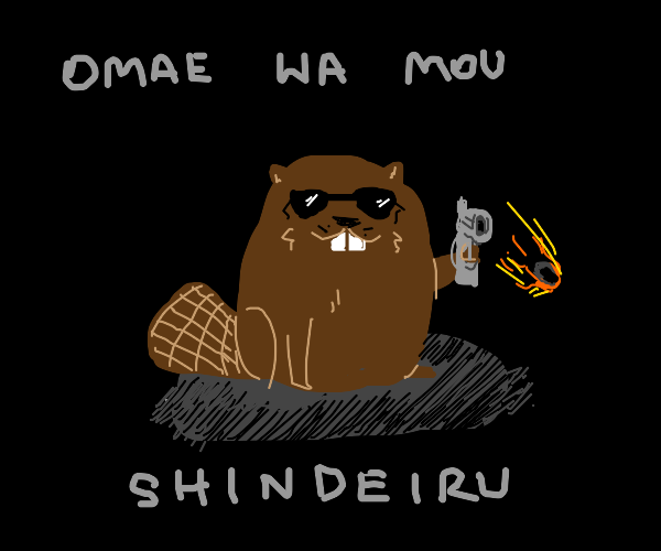 beaver with sunglasses shoots you