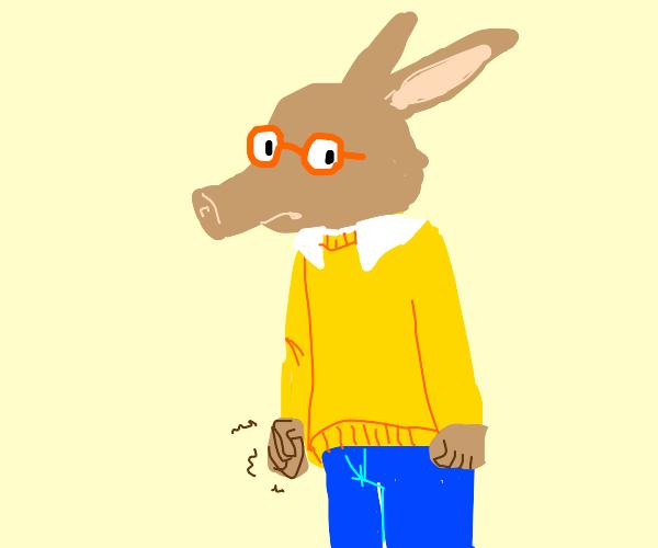Arthur as an actual aardvark