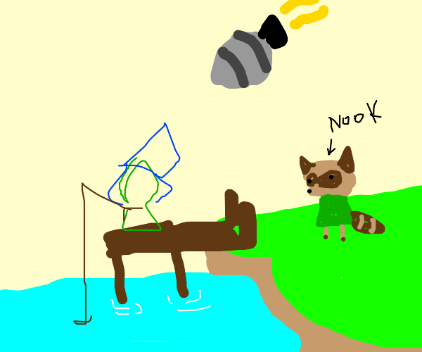 Animal crossing girl fishes up a nuke 4 nook!