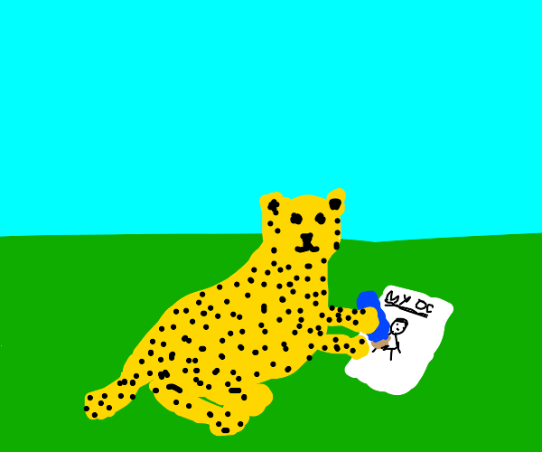 Leopard drawing their human OC