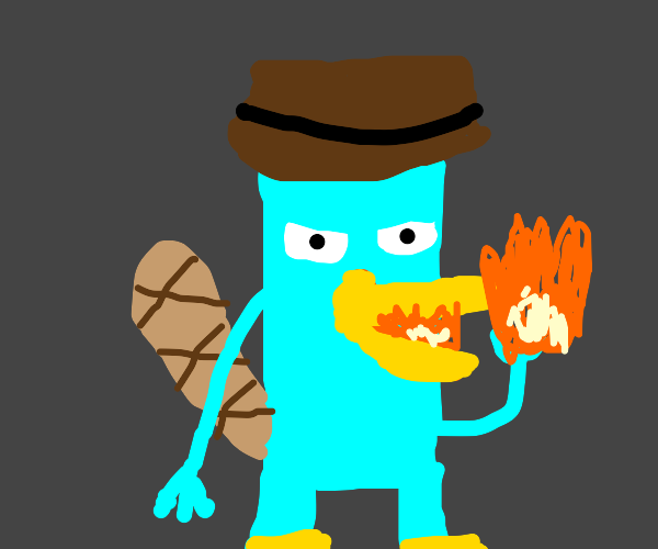 Perry the Platypus eats fire