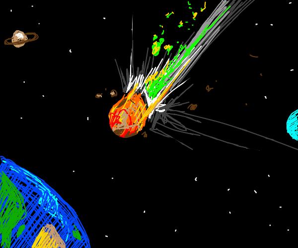 Meteor farts as it slams into earth