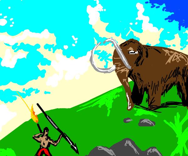 mammoth vs caveman