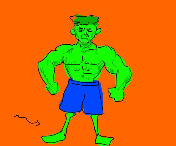 the hulk needs to work on his legs