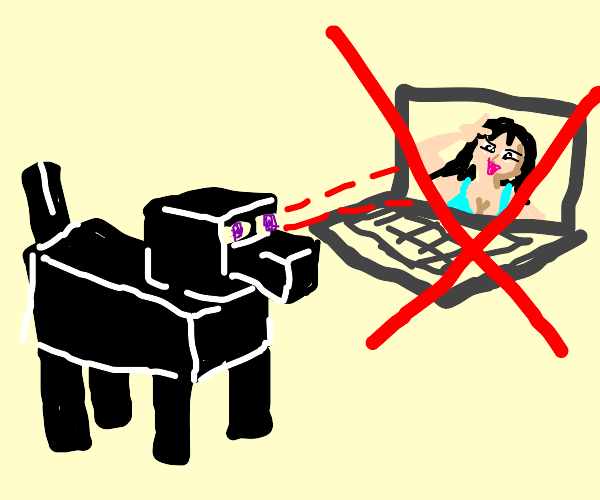 Never watched an anime enderman dog