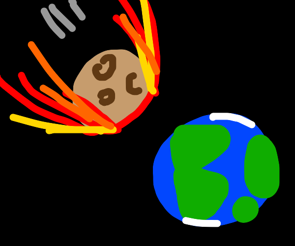 meteor about to crash into earth