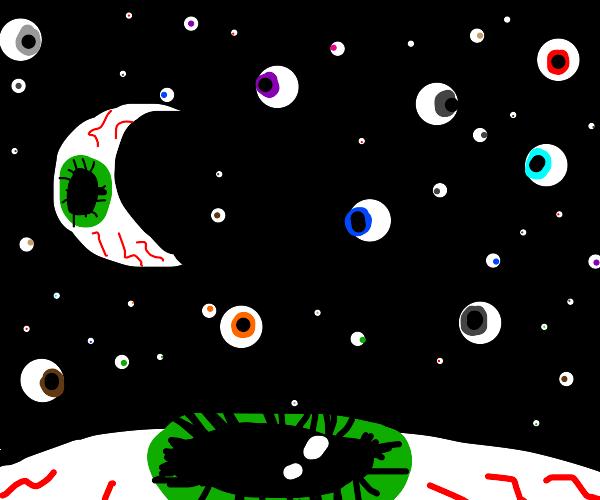 Eye filled land