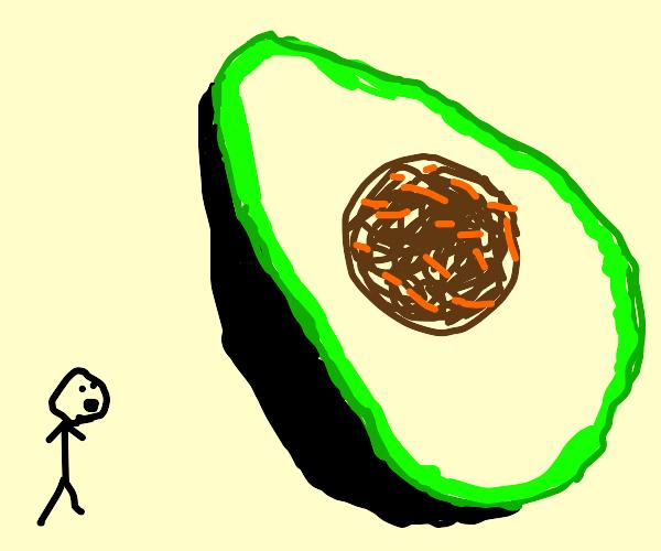 Gigantic Avocado