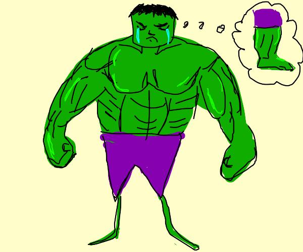 The Hulk skips leg day