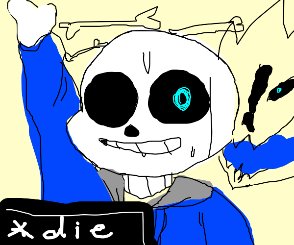 Sans isn't very keen on himself being on DS