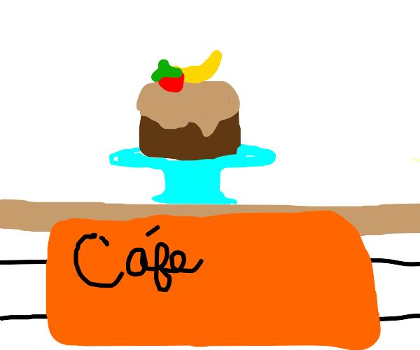Chocolate Banana Strawberry Cake Cafe
