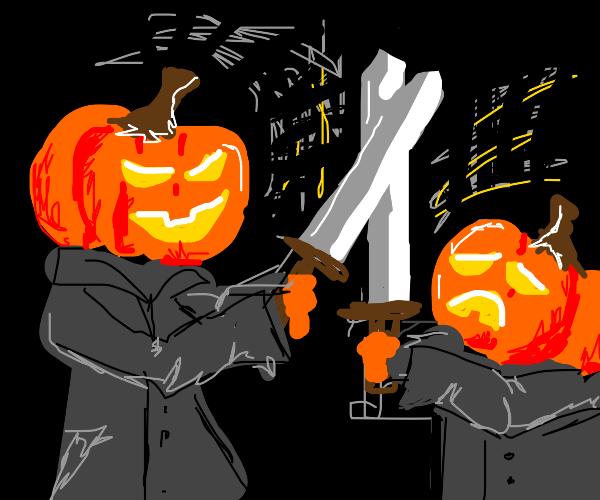 Pumpkin fight