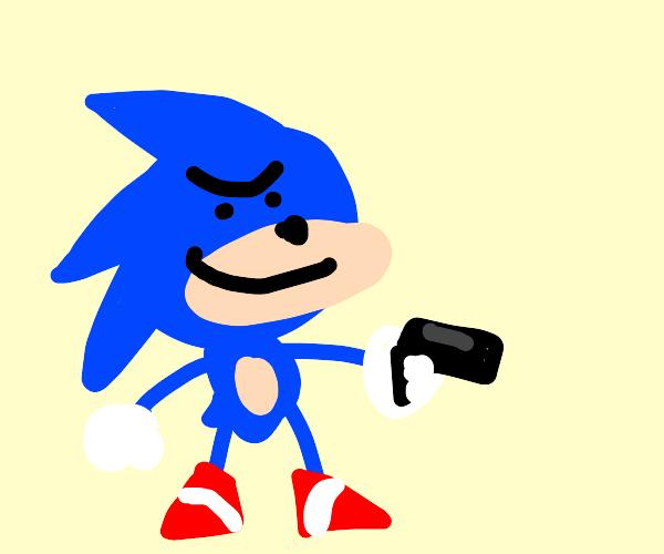 Sonic' got a gun!