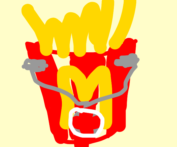 mcdonalds fries and stethoscope
