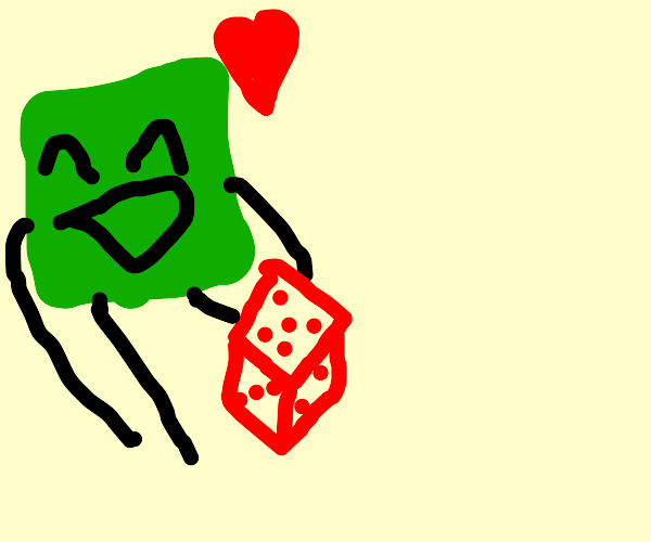 green square loves red dice